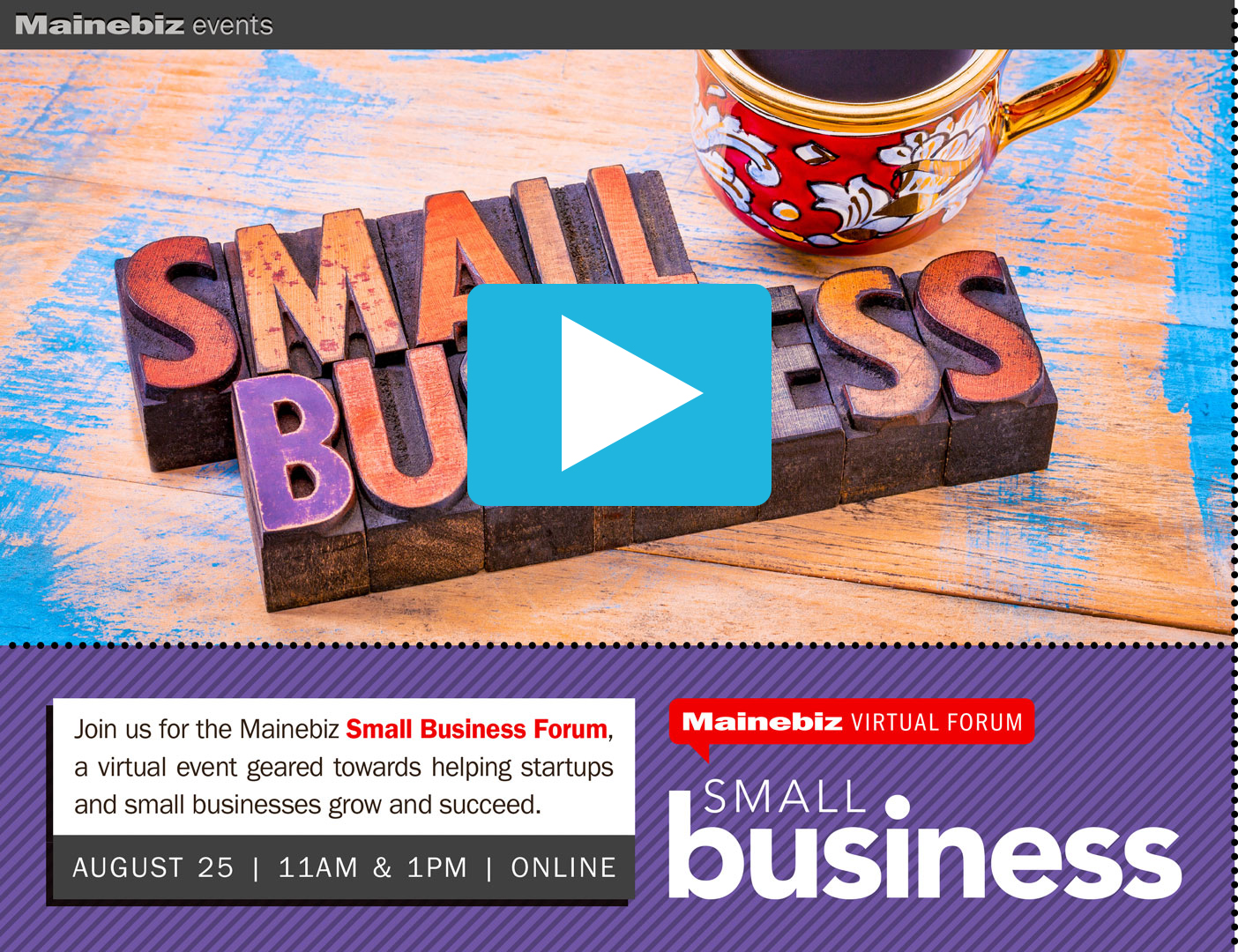 2021 Small Business Forum hosted by Mainebiz